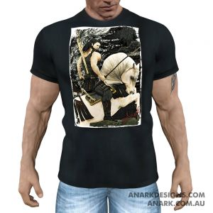 """HORSEBACK"" Gym Tee/ Martial Arts Tee/ Casual T-Shirt"