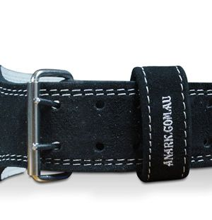 "Suede Leather Double Prong 4"" Weight Lifting Belt"